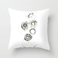 Danseuse Spiral Throw Pillow