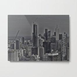 Reverse Toronto Skyline Metal Print