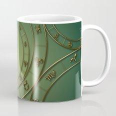 Zodiac circles and signs green Mug