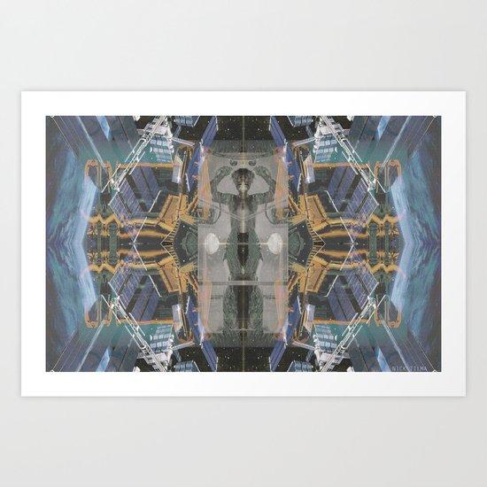 The Space Excavation Terror Art Print