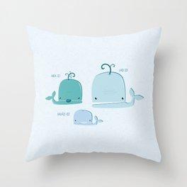 whale family Throw Pillow