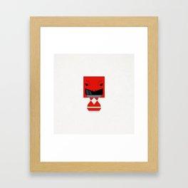 THE RED Framed Art Print