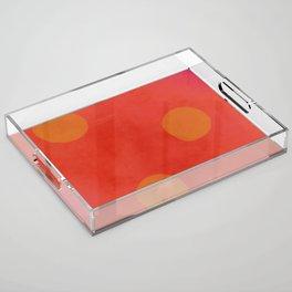 Drops of Gold Acrylic Tray