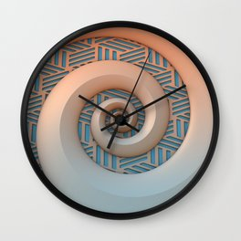 Miami Spiral Wall Clock