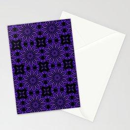 Purple Blue Floral Design Stationery Cards