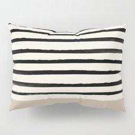 Latte & Stripes Pillow Sham