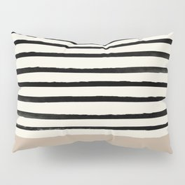 Latte & Stripes Pillow Sham