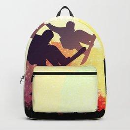 Snowboard Skyline Rainbow Backpack