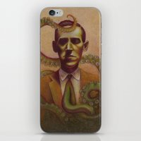 lovecraft iPhone & iPod Skins featuring H.P. Lovecraft by Henri Scribner