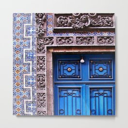 Blue doorway Metal Print