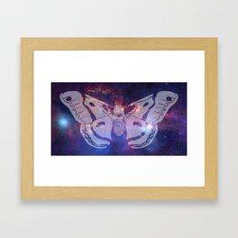 Space Moth (Commission) Framed Art Print