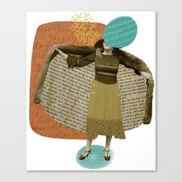Literary lady Canvas Print