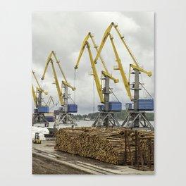 Dock Landscape Canvas Print