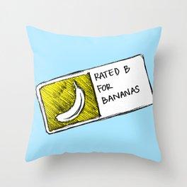 B for Bananas Throw Pillow