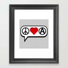 Peace. Love. Anarchy. Framed Art Print