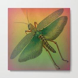 Jewel-toned Grasshopper Metal Print