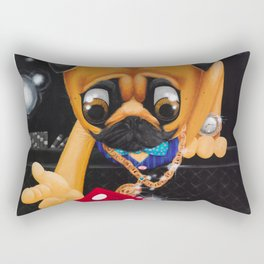 Pugsy the Playa Rectangular Pillow