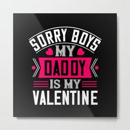Be My Valentines Day Love - 41 Metal Print