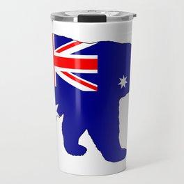 Australian Flag - Polar Bear Travel Mug