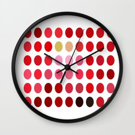 Mottled Red Poinsettia 2 Dots Wall Clock
