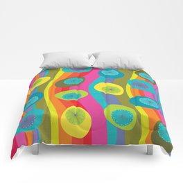 Groovy Retro Waves Comforters