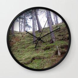 Trees Pentland Hills Scotland Wall Clock