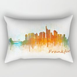 Frankfurt am Main, City Cityscape Skyline watercolor art v3 Rectangular Pillow