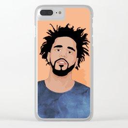 J Cole, Salmon Clear iPhone Case