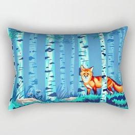 Fox and Birches Rectangular Pillow