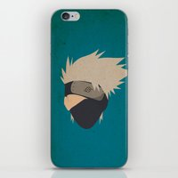 kakashi iPhone & iPod Skins featuring Kakashi Hatake Simplistic face by JamiePowellPrints