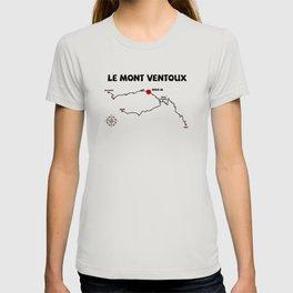 Le Mont Ventoux serpentine France cycling T-shirt
