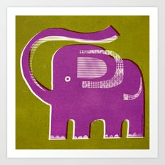 PURPLE PACHYDERM Art Print