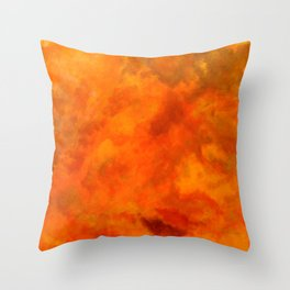 Volcanic explosion Throw Pillow