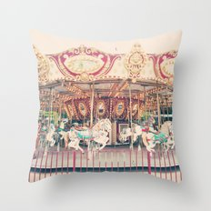 The Carousel Throw Pillow