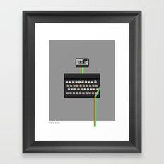 Sinclair ZX Spectrum pixel art Framed Art Print