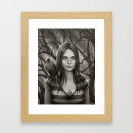 A Jackdaw's Friend Framed Art Print