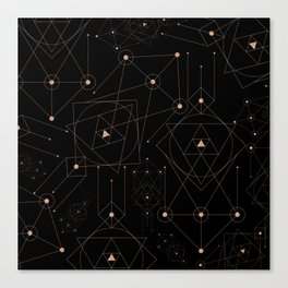 celestial pattern design Canvas Print
