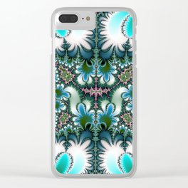 Fractal Rectangle Clear iPhone Case