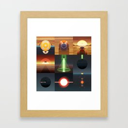 Star Abstractions Framed Art Print