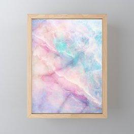 Iridescent marble Framed Mini Art Print