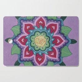 Rose Mandala 2 by Soozie Wray Cutting Board
