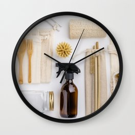 zero waste cleaning and beauty products Wall Clock