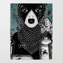 RAD RIDE and SPRAY CANS Poster