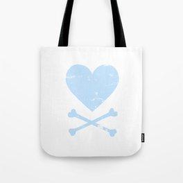 Heart and Crossbones - Blue Tote Bag