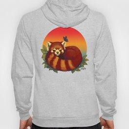 Red Panda Has Blue Butterfly Friend Hoody
