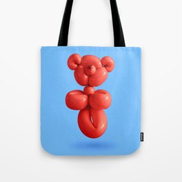 Chilli red teddy bear party balloon on sky blue Tote Bag