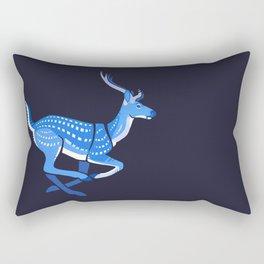 Blue deer redux Rectangular Pillow