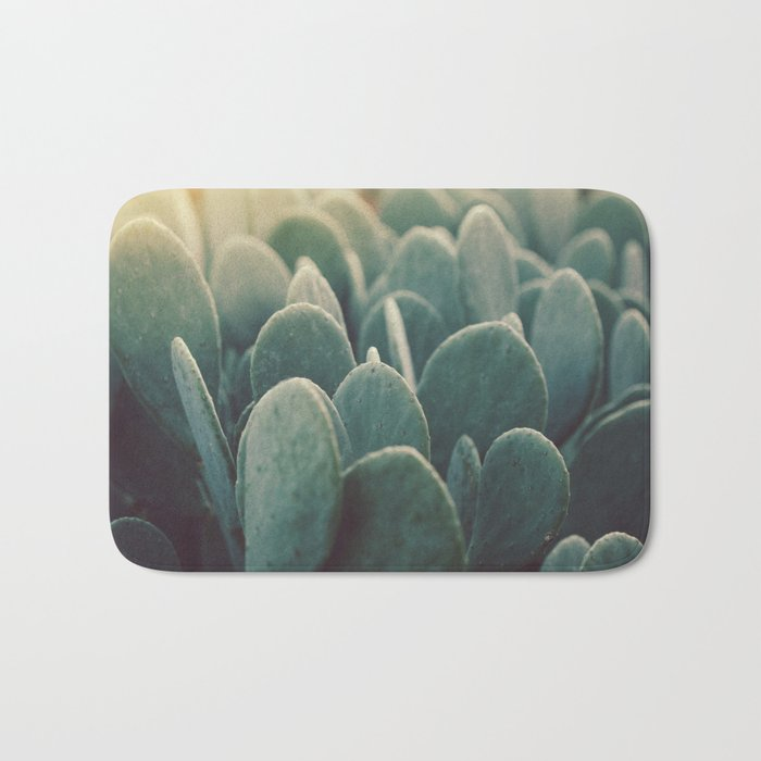 Green + Gold Bath Mat