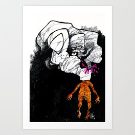 Poppin' the Donald Art Print