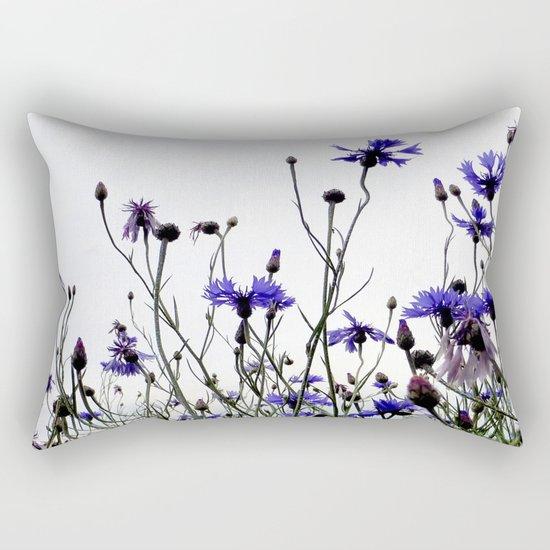 Cornflowers blue Rectangular Pillow